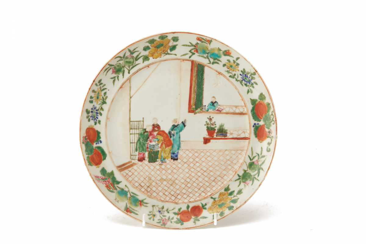 Lot 20 - TWO FAMILLE ROSE PLATES