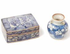 TWO BLUE AND WHITE PORCELAIN WARES