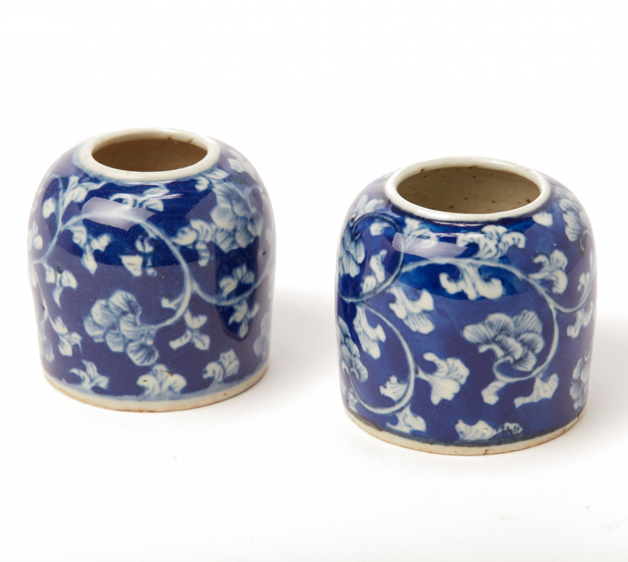 Lot 58 - TWO BLUE AND WHITE PORCELAIN MINIATURE VASES