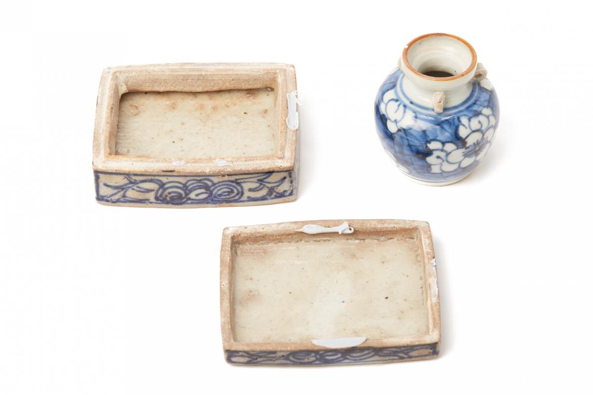 Lot 54 - TWO BLUE AND WHITE PORCELAIN WARES