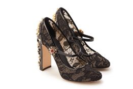 A PAIR OF DOLCE & GABBANA 'MARY JANE' PUMPS EU 38