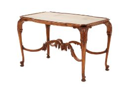 AN ANTIQUE CARVED CENTRE TABLE