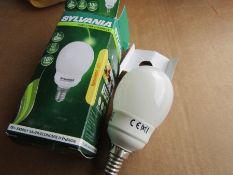 36 x E14 Globe Shape CFL Bulb, 9W, 2700K, Warm White Colour Tone
