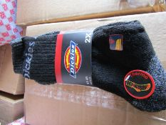 40 Pairs of DICKIES THERMAL WORK SOCKS (2 PAIR PACKS) SIZE UK 6 - 11 THERMO BLACK GREY DCK-00011