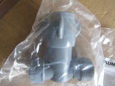 32 x Polyplumb Grey Stop Cock 22 x 22mm - H9554 7845147
