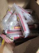 Box of Geocel 350 ml Cartridge Beige Rubber & Contact Adhesive Bonding Paste