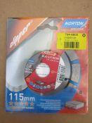 20 x Norton Duo Extreme Plus Classic Cutting Disc Diamond 80m/s 115mm - 05C6 7946805