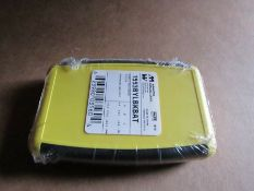 50 x Hammond 1553 Series Yellow ABS Enclosure 4.62x 3.11x 0.95 In