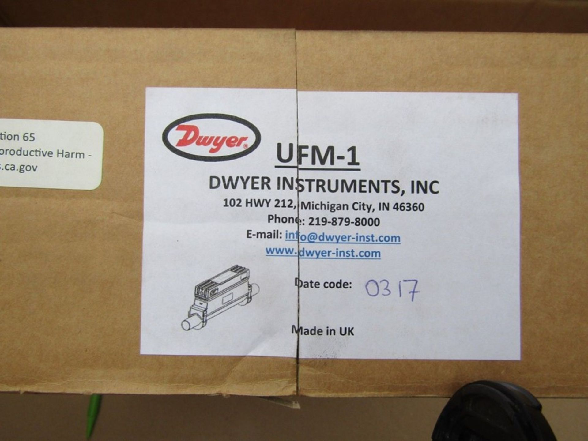 DWYER INSTRUMENTS Ulttrasonic Flow Meter 0.1 - 10 m/s, UFM Series - T&M 9067730 - Image 3 of 4