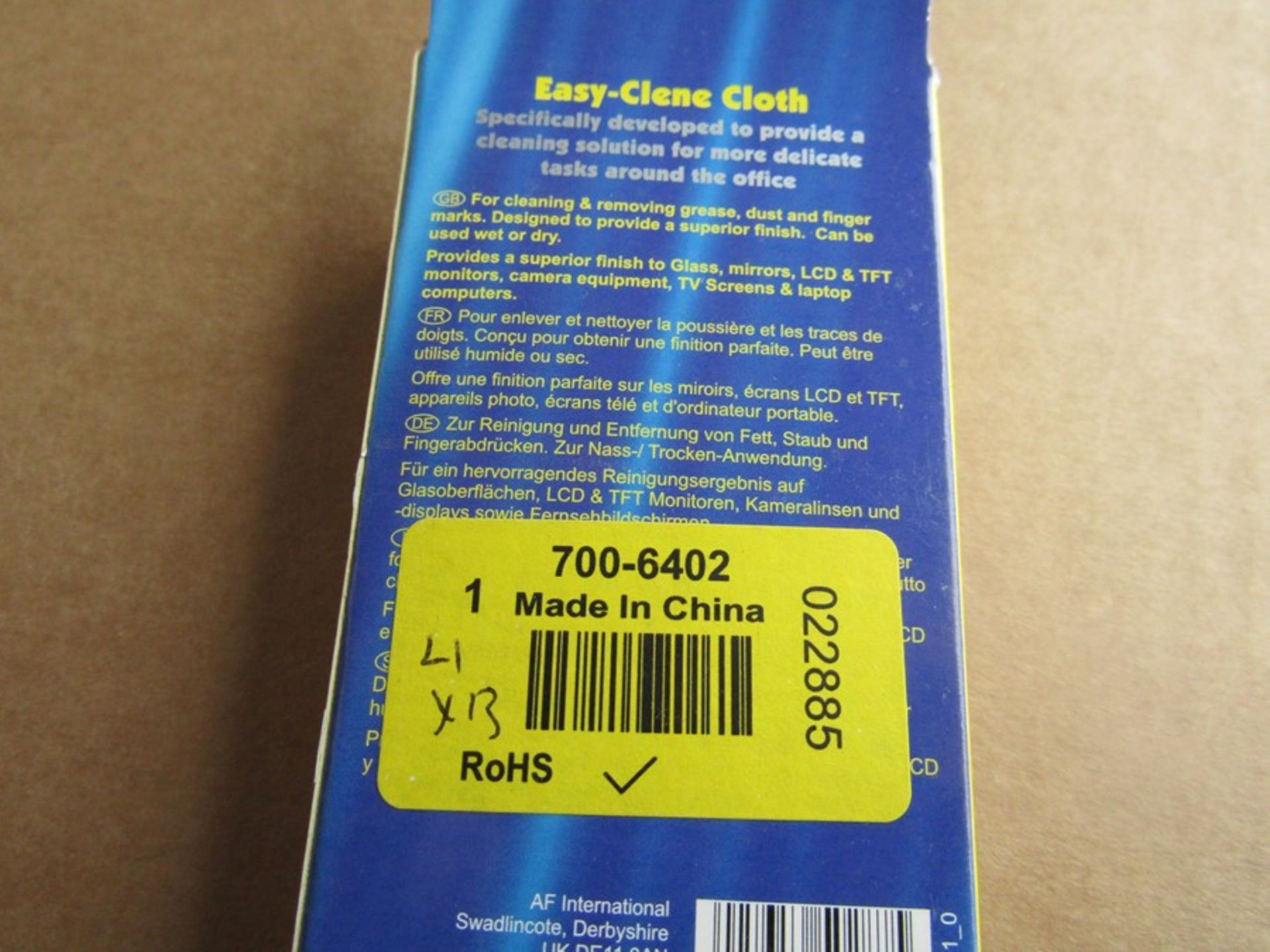 13 x AF Pack of 1 Blue Easy-Clene Multi-purpose Wipes for General Cleaning, Office Use - Image 3 of 3