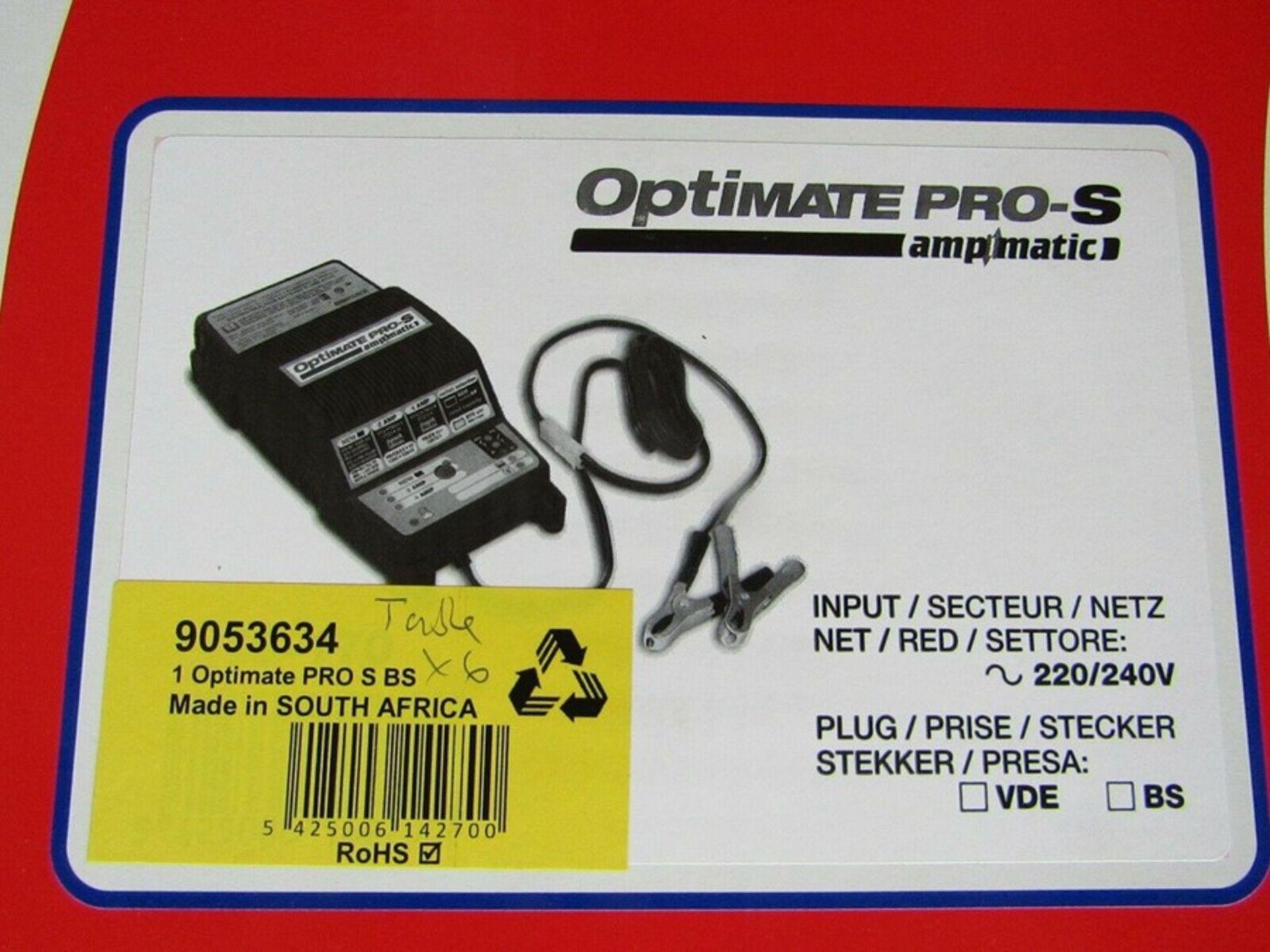 TecMate OptiMate PRO-S Lead Acid 12V 4A Battery Charger UK plug table 9053634 - Image 2 of 2