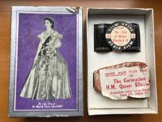 1953 coronation souvenir in original packaging and unused. The life story of Queen Elizabeth II.