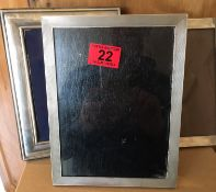 """Lot of 3 Vintage Various Silver Photo Frames - 8 3/4"""" x 6 3/4""""- 9"""" x 7"""" and 8 1/2"""" x 6 1/4""""."""