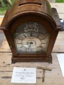 Garrard&Co London (Elliot&Co) Silver Jubilee Clock number 13/250 - working.