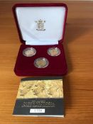 Royal Mint Boxed Set of 1879, 1891 and 1897 Sovereigns.