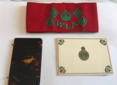 World War Two Womens Land Army Notebook&Armband and Greeting Card.