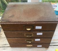 Four Drawer Cabinet of Watchmakers Watch Movements - Tools etc.