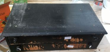 Antique 2 Drawer Cabinet of Watch Movements by Seiko-Eta etc.