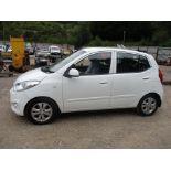 13/13 HYUNDAI I10 ACTIVE AUTO - 1248cc 5DR HATCHBACK (WHITE, 77K)