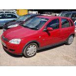 04/54 Vauxhall Corsa Design 16V Twinport - 1364cc 5dr Hatchback (Red, 56k)
