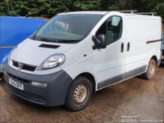 06/55 VAUXHALL VIVARO 2700 DI SWB - 1870cc 2dr Van (White, 125k)