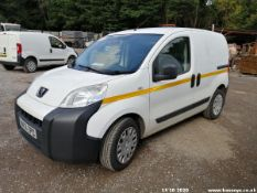 13/13 PEUGEOT BIPPER SE HDI - 1248cc 5dr Van (White, 126k)