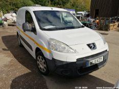 11/11 PEUGEOT PARTNER 850 SE HDI 90 - 1560cc 5dr Van (White, 96k)