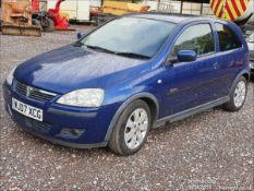 07/07 VAUXHALL CORSA SXI+ - 1229cc 3dr Hatchback (Blue, 62k)