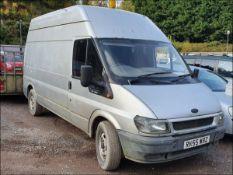 05/55 FORD TRANSIT 350 LWB - 2402cc 2dr Van (Silver, 170k)