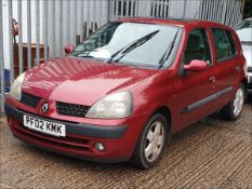 02/02 RENAULT CLIO PRIVILEGE 16V - 1390cc 5dr Hatchback (Red, 82k)