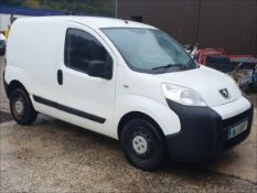 11/11 PEUGEOT BIPPER S HDI - 1399cc 5dr Van (White, 79k)