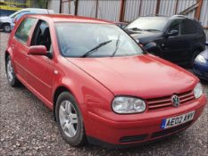 02/02 VOLKSWAGEN GOLF GT TDI - 1896cc 5dr Hatchback (Red, 165k)