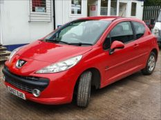 07/57 PEUGEOT 207 M:PLAY - 1360cc 3dr Hatchback (Red, 88k)