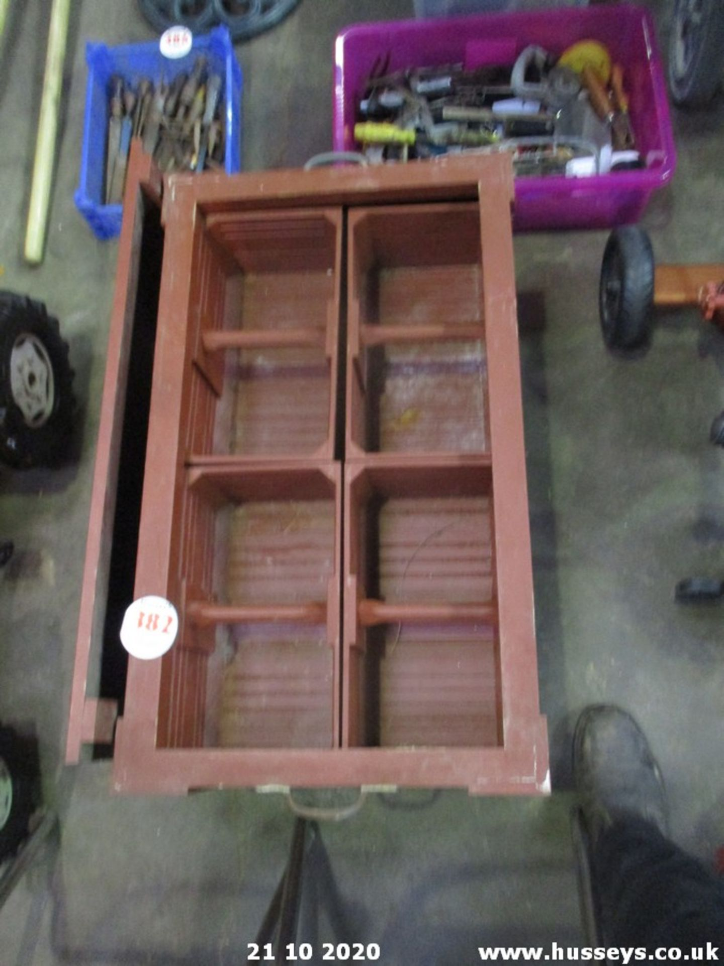 WOODEN TOOL TRUNK