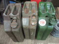 3 JERRY CANS