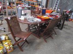 GARDEN TABLE C/W 6 CHAIRS