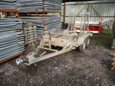 INDESPENSION MINI DIGGER TRAILER C/W TRACK CLAMPS