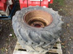 PAIR OF JCB WHEELS 360/70 R20