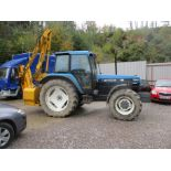 NEW HOLLAND 7840 TRACTOR N650 VFJ SHOWING 2130HRS C/W MCCONNEL PA2060 HEDGE TRIMMER (FROM A DECEASED