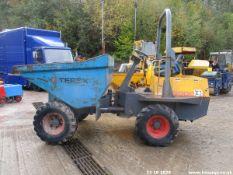 Terex 3T Straight Skip Dumper with Kubota Engine (2006) (Ref P15G)