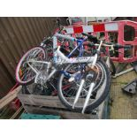 CRATE OF BIKE FRAMES & PARTS