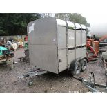8FT IFOR WILLIAMS LIVESTOCK TRAILER C/W SHEEP DECKS