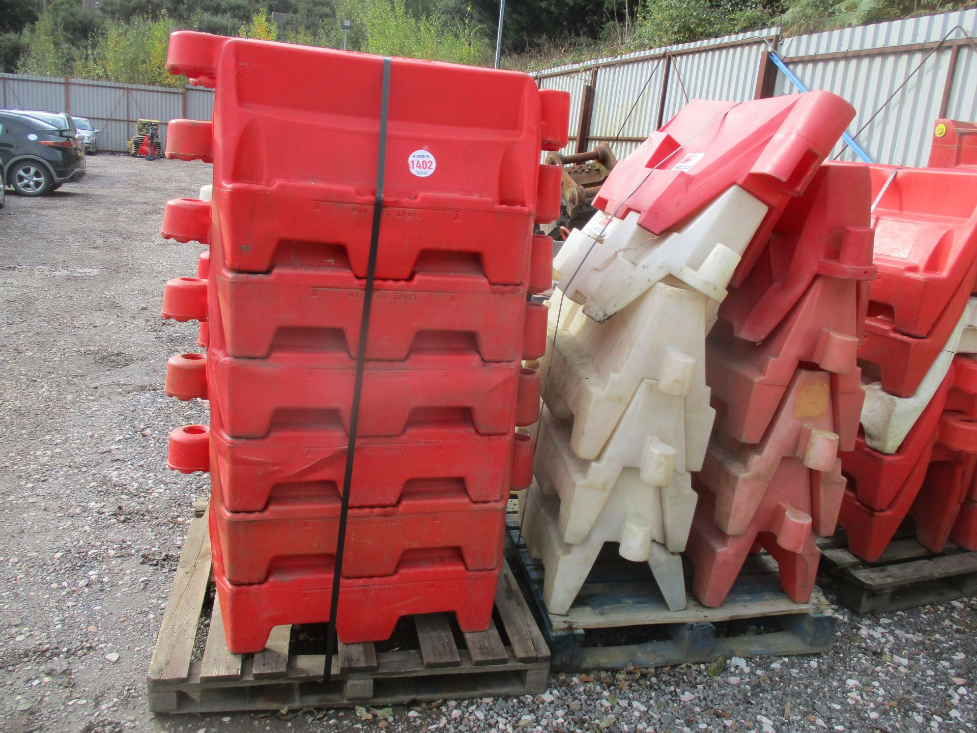 2 PALLETS OF BARRIERS