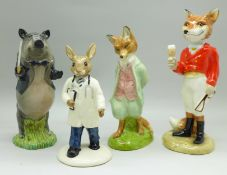 Three Beswick figures, Foxy Whiskered Gentleman, 21st Century Fox and conductor John, a/f, and a