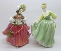 Two Royal Doulton figures, The Skater and Fair Lady