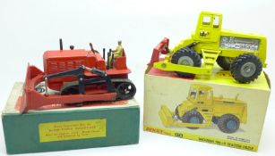 A Dinky Supertoys, 561, Blaw-Knox Bulldozer and a Dinky Toys, 976, Michigan 180-111 Tractor Dozer,