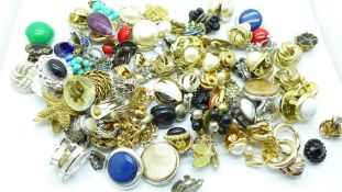 Approximately 75 pairs of clip-on earrings