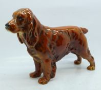A Goebel model of a spaniel, height 14.5cm