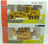 Two Joal Compact Caterpillar die-cast vehicles, boxed