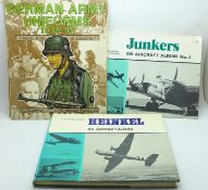 Two German military aircraft books and a German army uniforms reference book
